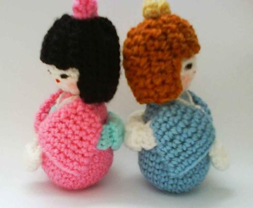 Japanese kokeshi girls doll amigurumi Crochet pattern Flickr