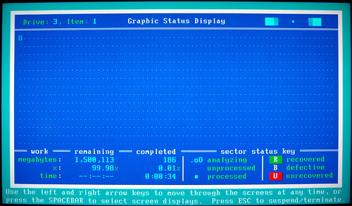 20091212 - 8 - harddrive failure - SpinRite software - GEDC1107 - Graphic Status Display | by Clio CJS