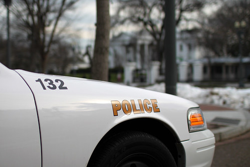 police car near white house fender of secret service unifo flickr. Black Bedroom Furniture Sets. Home Design Ideas