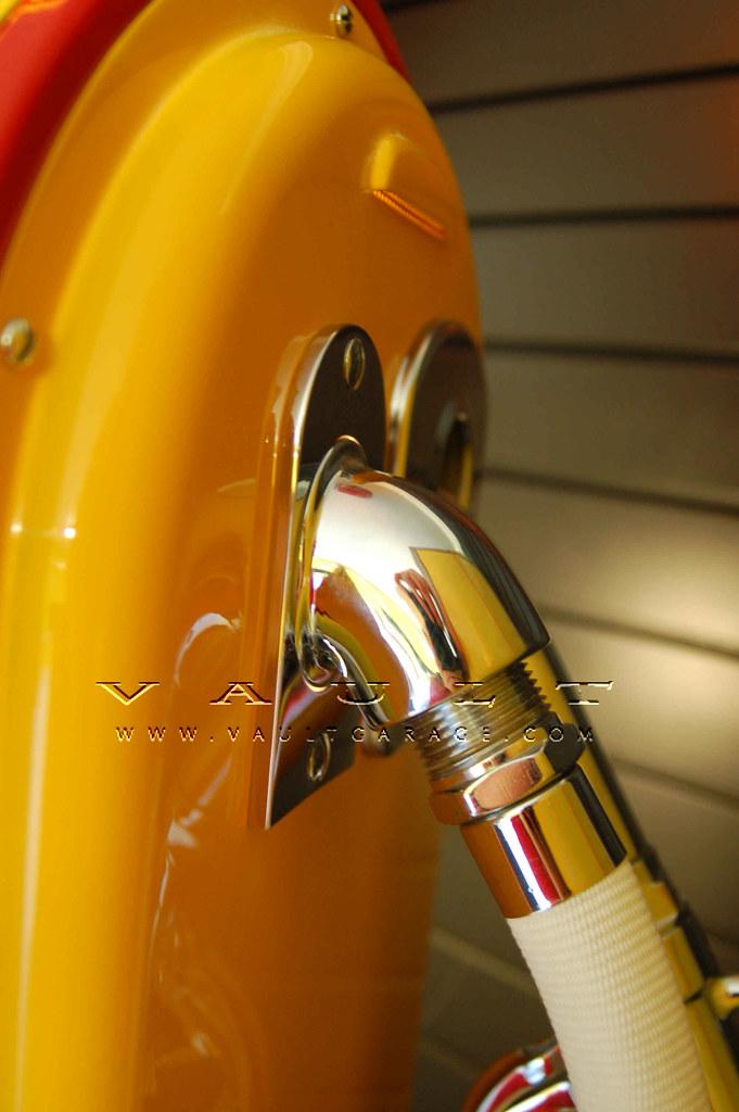 Closeup of Nickle Plating of Metal Parts on Wayne 866 Gas