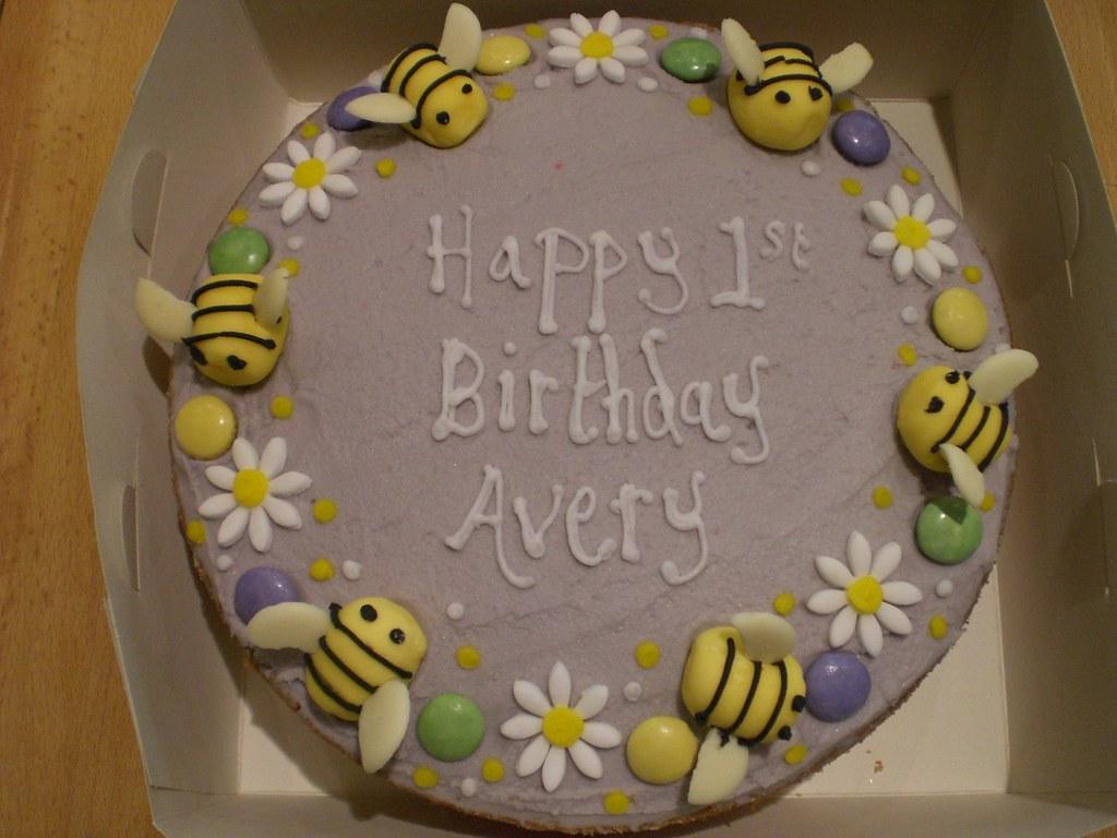 Bumblebee Birthday Cake For Avery Birthday Cakes Lovingly Flickr