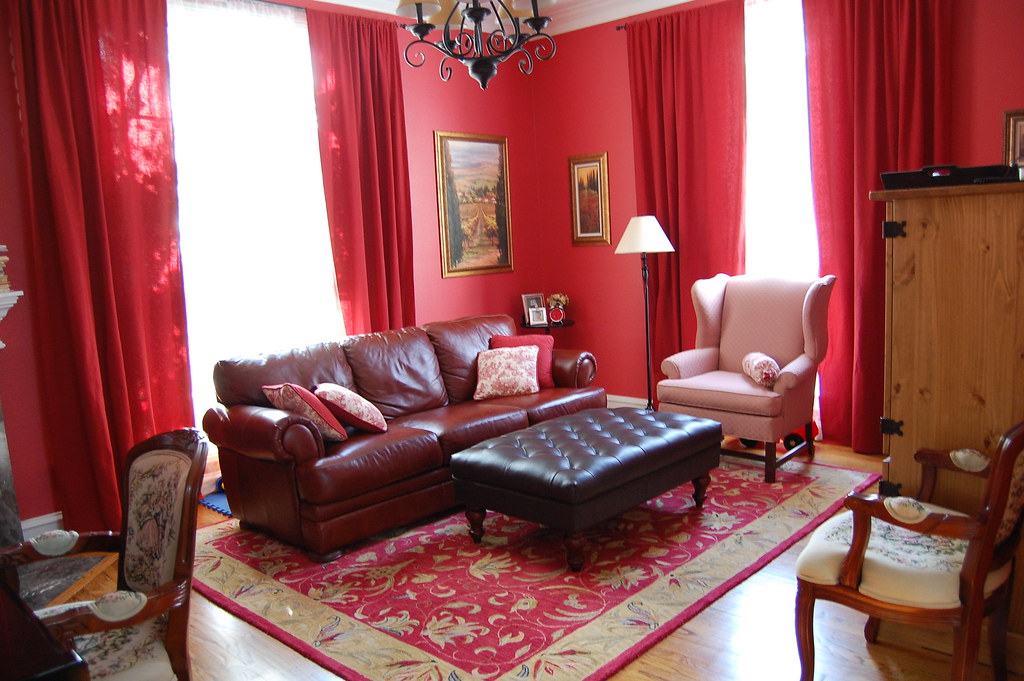 Red Living Room This Room Has Too Much Red Want To