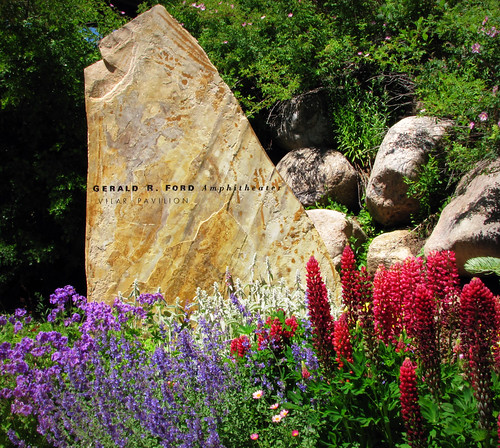 Gerald R Ford Amphitheater Stone Sign At The Vilar