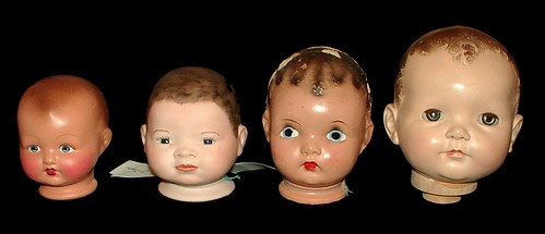 mannequin heads (old doll heads) | by sunshine's creations