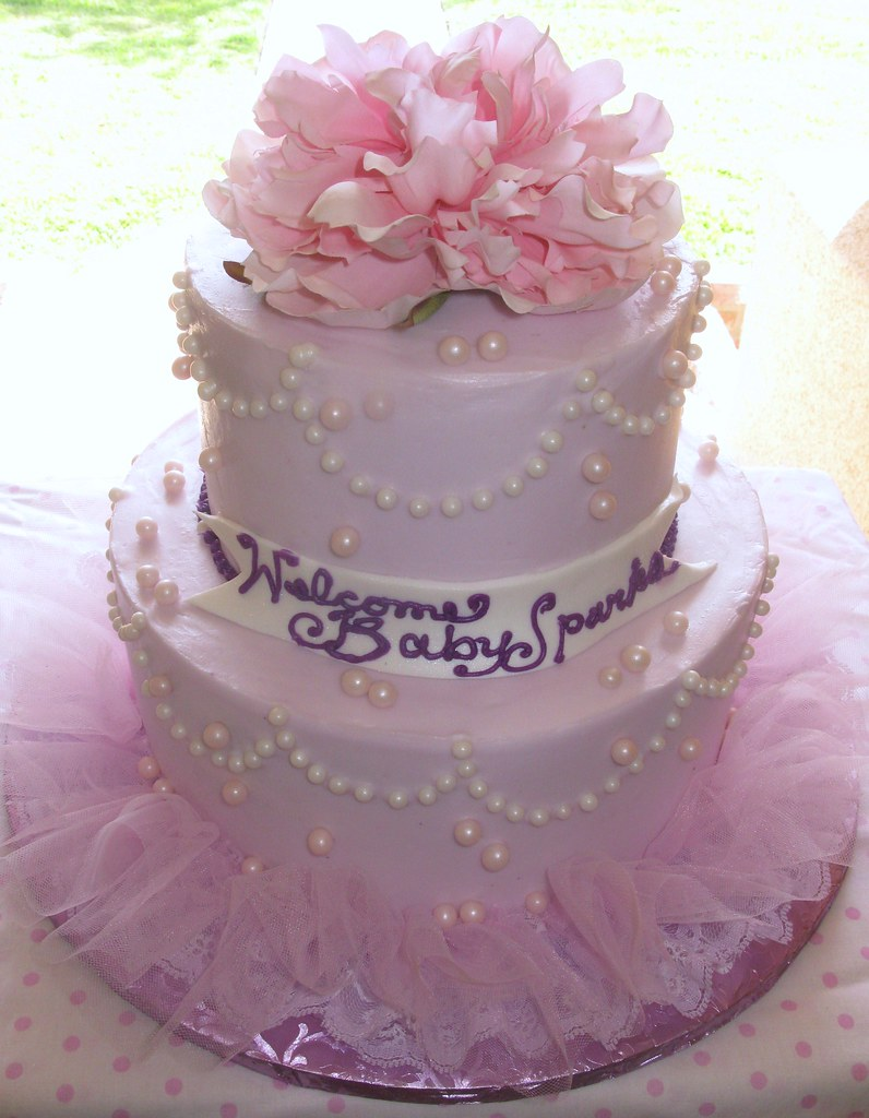Pretty Pink And Purple Baby Shower Cake Visit Wwwthecakem Flickr