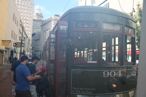 Boarding The St Charles Avenue Street Car New Orleans L
