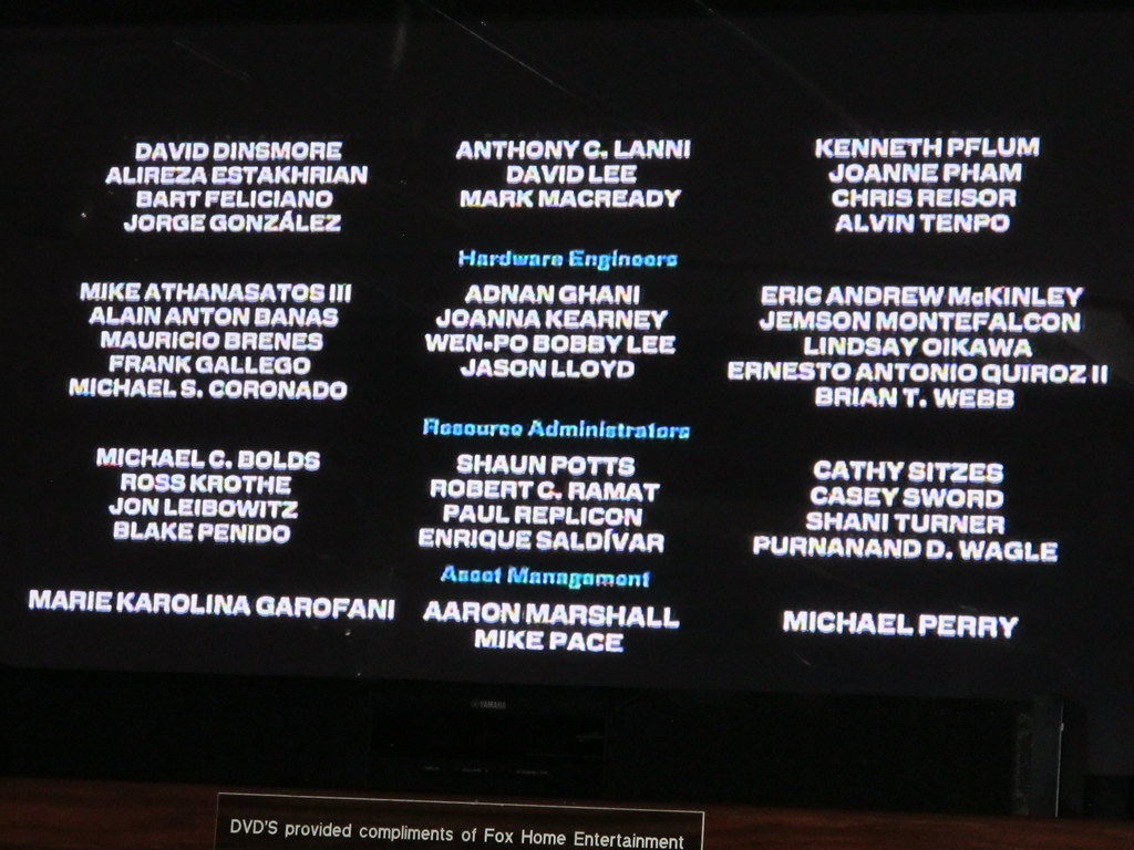 monsters vs aliens credits as shown in the pacific