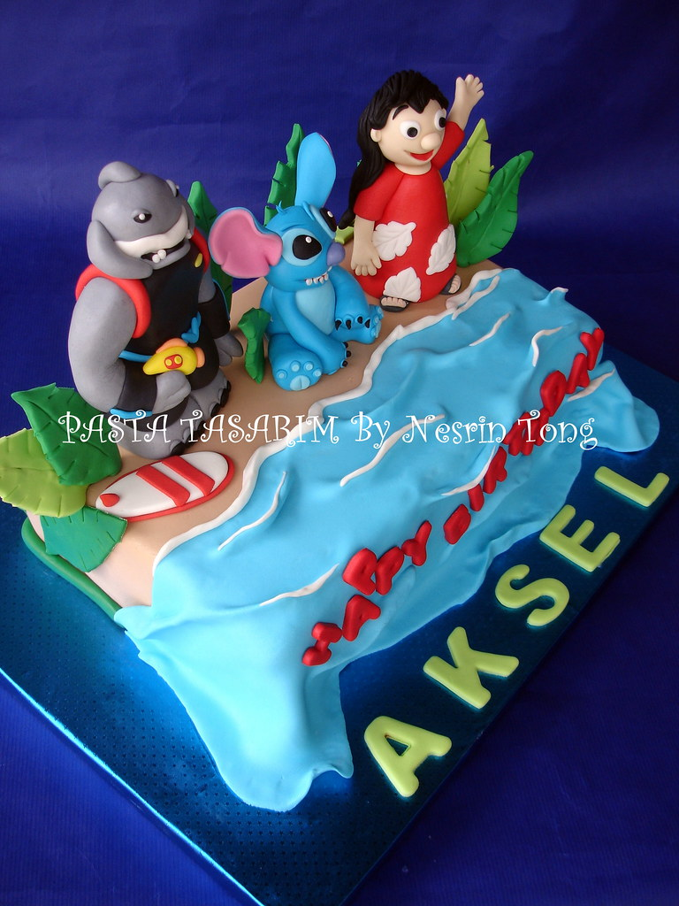 Lilo And Stitch Cake Aksels Birthday Pasta Tasarim Flickr