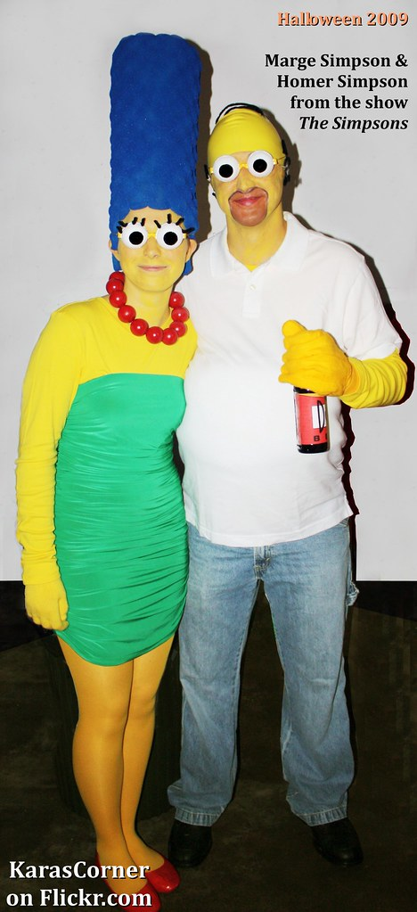 ... Marge Simpson and Homer Simpson from  The Simpsons  homemade Halloween couples costume (October  sc 1 st  Flickr & Marge Simpson and Homer Simpson from