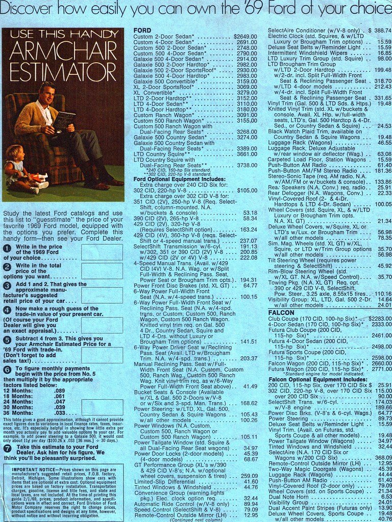 1969 Ford Armchair Estimator (price list) Side A   coconv   Flickr