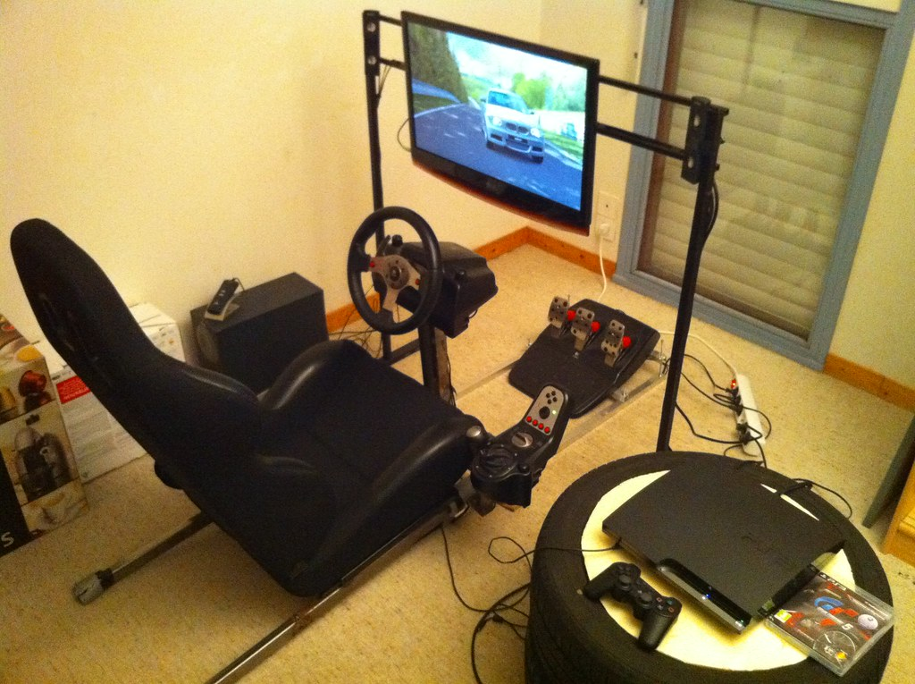 Homemade Sim Racing Playseat Sylvain Le Roux Flickr