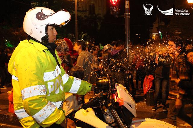 Noche de Compadres y Comadres se desarrolló bajo resguardo policial