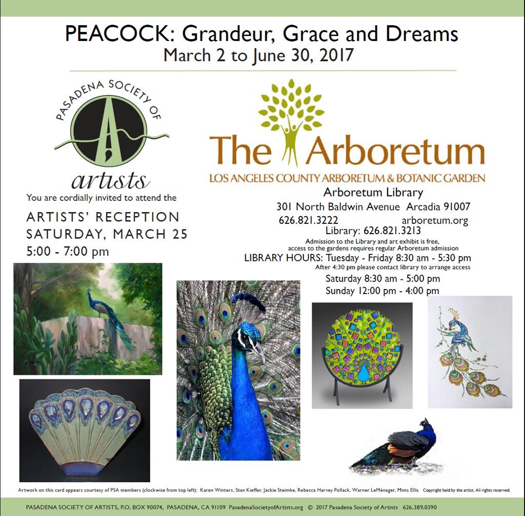 Pasadena Society of Artists exhibition flyer