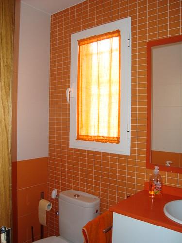 Cortina baño naranja: cortinas de ba o bath comprar ducha ...