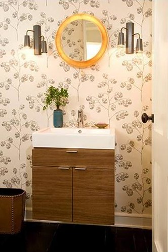 modern wallpaper: powder roomnickey kehoe | quirky, mode… | flickr