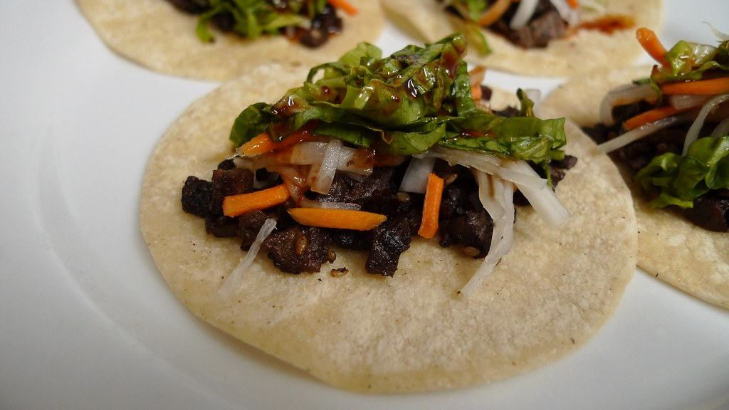 Bulgogi Tacos 2.0 | with pickled daikon/carrot salad, slaw ...