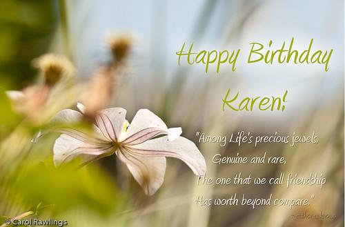 Поздравления с днем рождения карен