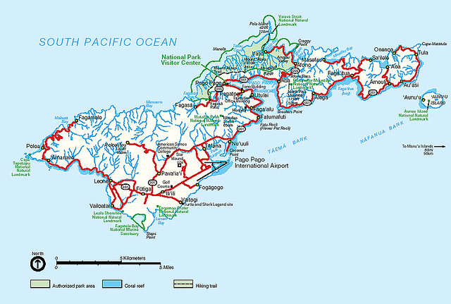 map american samoa by american red cross