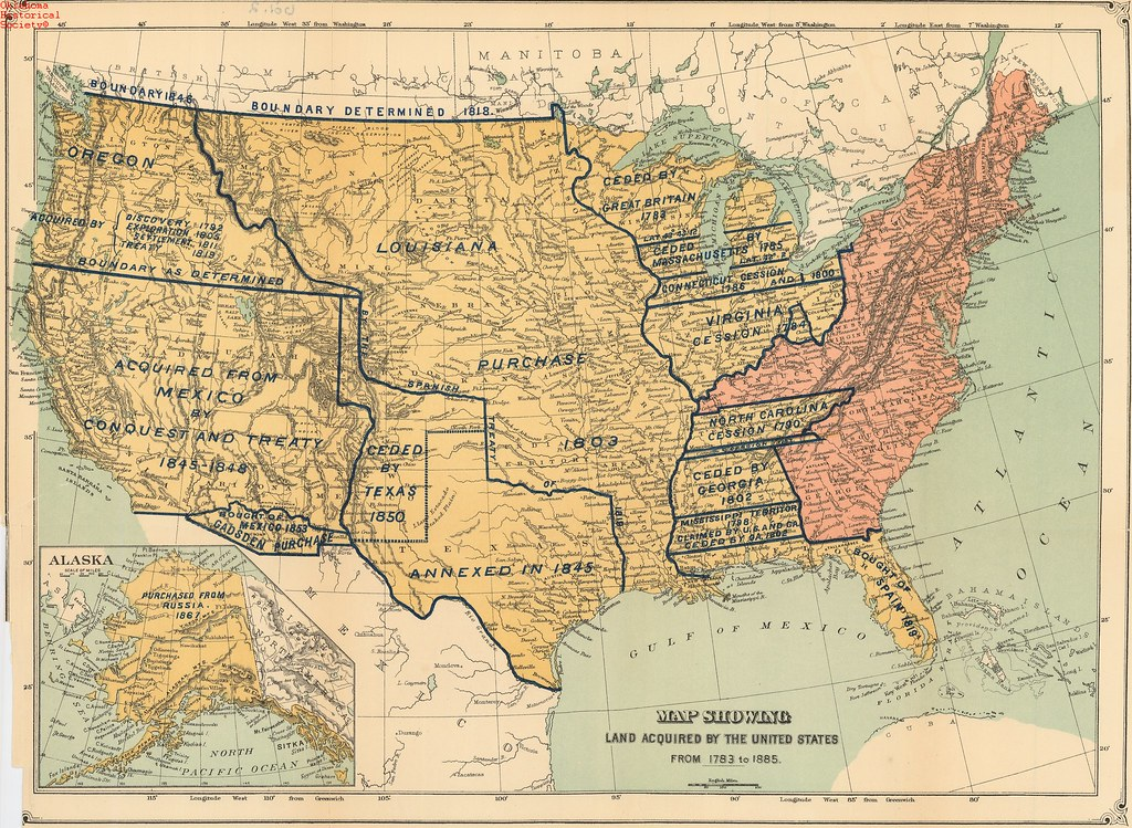 Land Acquired By The U S 1783 1885 Ohs Map Collections Flickr