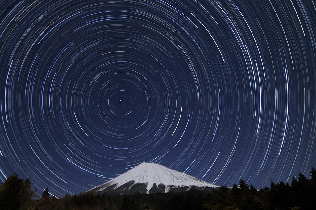 Mt Fuji Polar Star Trails Fujinomiya Nishiusuzuka