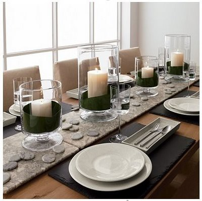 Marble and slate modern table decor artisancakecompany for Modern tabletop decor
