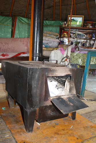 Stove used for cooking and heating in a Mongolian Ger | by East Asia & Pacific on the rise - Blog