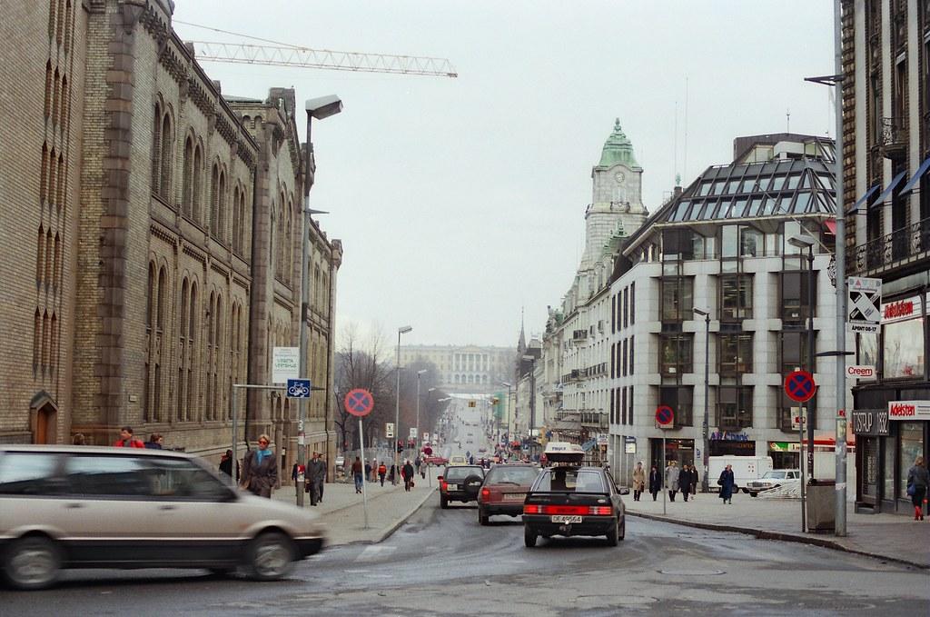 Slottet Oslo Norway 46 1c 100 5f f Stortinget Karl Johans Gate Slottet Oslo Norway