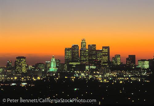 Los Angeles Skyline California La Los Angeles Skyline
