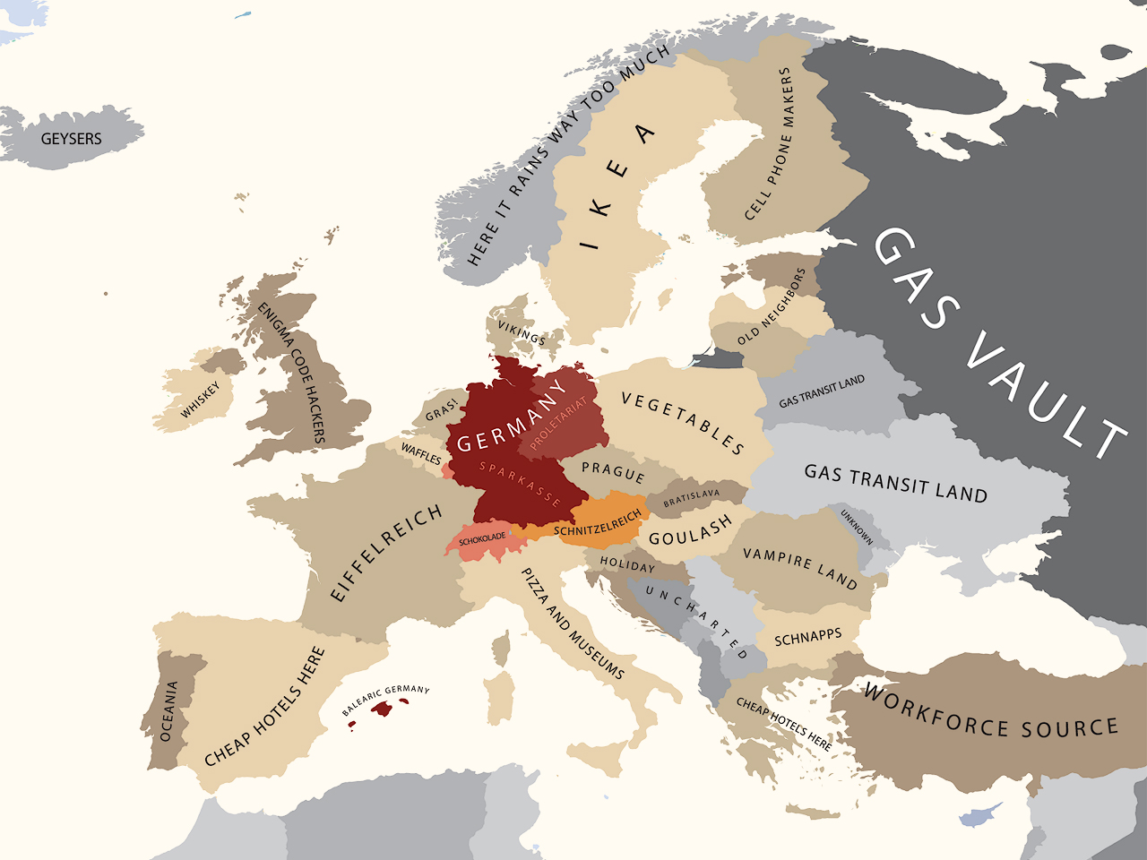 All Sizes Europe According To Germany Flickr Photo Sharing - Germany map size