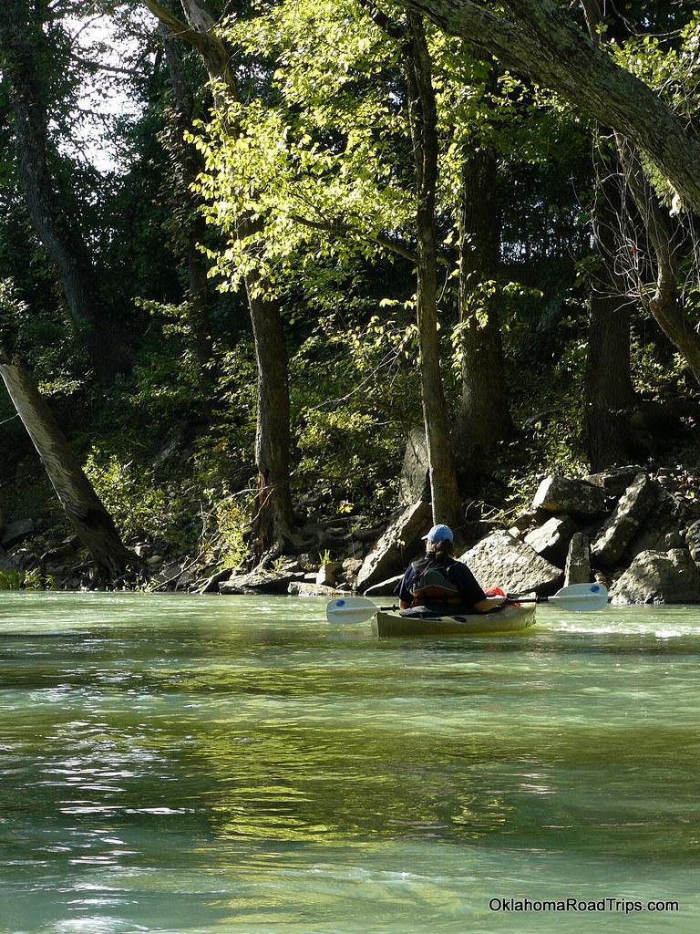 Paddling Near Ozark Arkansas