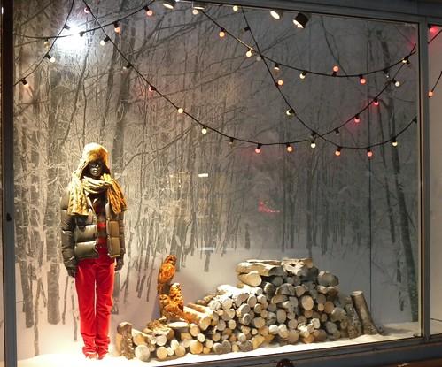 Winter Landscape In Window Display This Window Display