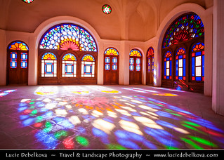 Iran - Isfahan Province - Kashan - Room of Color and Light in Tabatabaei historical house | by © Lucie Debelkova / www.luciedebelkova.com