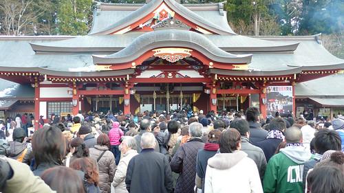 New year's visiting at Morioka Hachiman-gu shrine