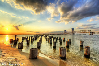 Beautiful decayed Jetty Sunset, Breathtaking in HDR | by iamNigelMorris