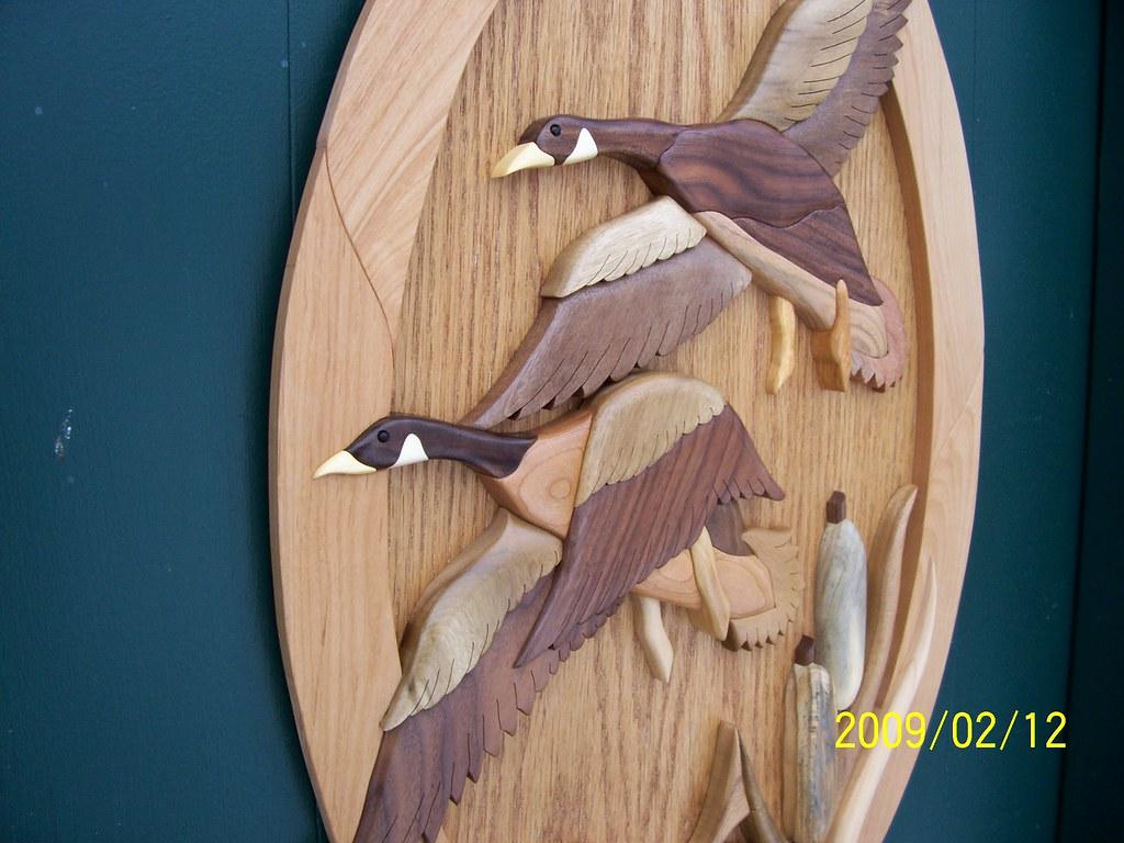 Flying Geese Intarsia Flying Geese Intarsia With Catails