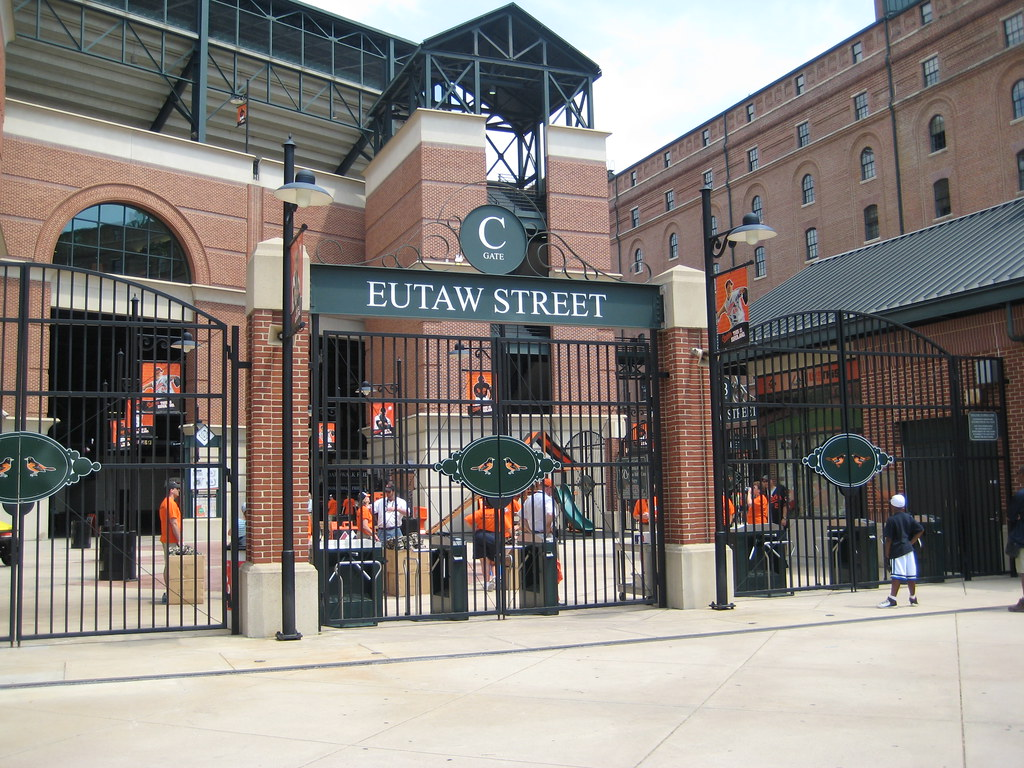 The Eutaw Street Gate C Entrance at Oriole Park at Camden ...