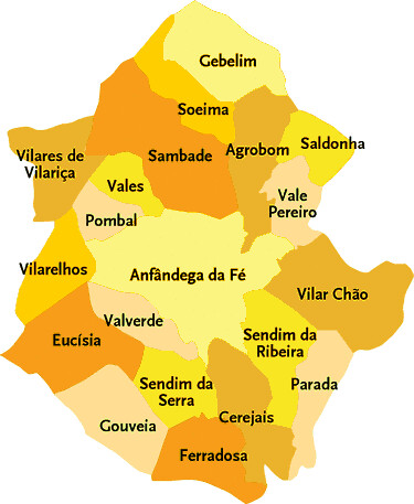 mapa alfandega da fe Concelho de Alfandega da Fé | Mapa das freguesias de Alfande… | Flickr mapa alfandega da fe