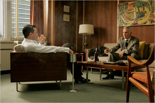 mad men set design the furniture in don drapers office by sarahkaron - Mad Men Sofa