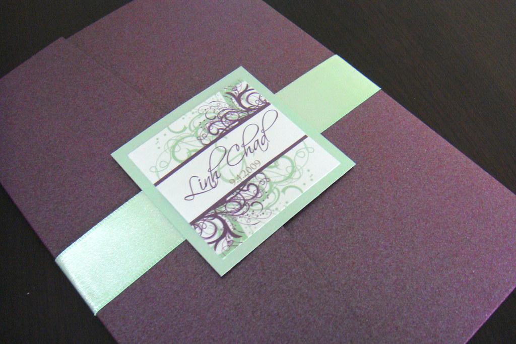 Wedding Invitations (Purple + Green)   Please contact me for…   Flickr