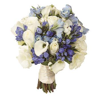 white rose gentians pale blue delphiniums calla bouque flickr. Black Bedroom Furniture Sets. Home Design Ideas