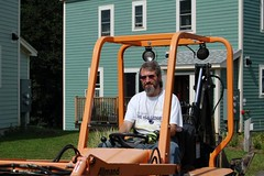 Perley on the backhoe | by mosaiccommons