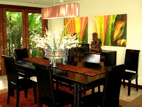 Contemporary dining room tv hawaii tropical rick romer se for Tropical dining room