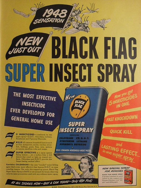 1948 black flag insect spray advertisement vintage 1940s flickr