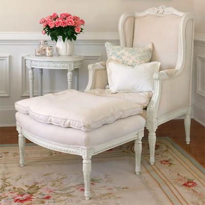 Shabby Chic Chair and Ottoman | Post 11/3/09- Brunch at ...