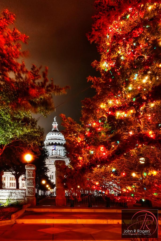 austin texas capitol christmas tree by john r rogers