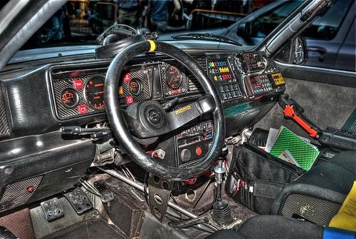 Interno Di Una Lancia Delta Da Rally Francesco