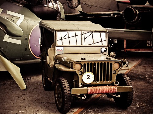 RNZAF Jeep in Air Force World Museum, Christchurch | by J e n s