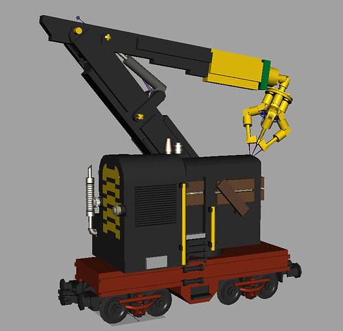 Lego Crane Train Crane Train End Level Boss