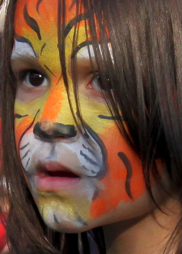 Tiger Face Girl -- watching the band | by Toria Clark