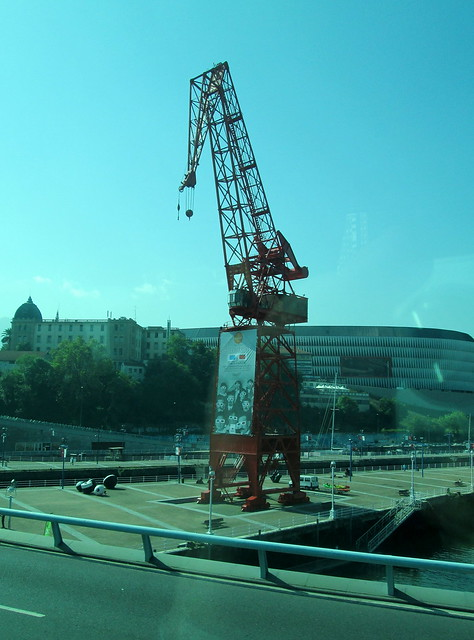 San Mamés Stadium and Crane
